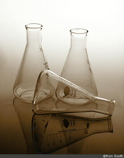 Erlenmeyer Flasks ©Ron Scott