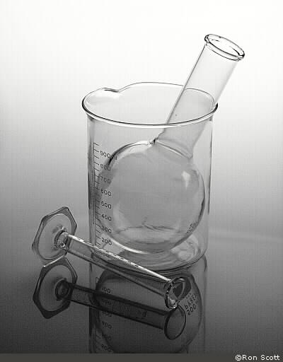 Florence Flask with Beaker and Graduate ©Ron Scott
