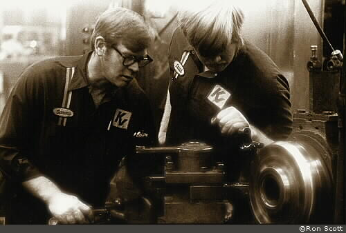 Men at Lathe ©Ron Scott
