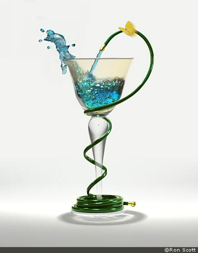 Glass With Hose ©Ron Scott