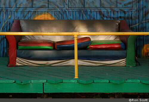 Couch Behind Yellow Rail ©Ron Scott
