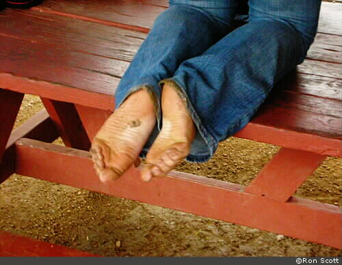 Bare Feet and Blue Jeans ©Ron Scott