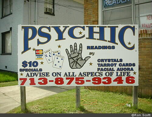 Psychic Readings Sign ©Ron Scott
