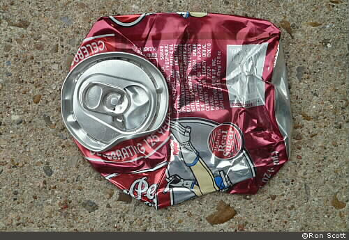Smushed Soda Can ©Ron Scott